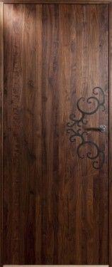 Lyngö - Dörren är helt slät med stavlimmat valnötsfanér och svart dekor. Lyngö i valnöt levereras vaxad och polerad.   För mer info, gå in på www.bovalls.com
