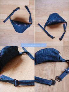 Anielska Aniela-DIY,Tutorial,Sewing, Szycie, beauty,przeróbki,uroda,zdrowie -Blog o przeróbkach: Diy Tutorial Fanny pack (pattern) jak uszyć torebkę nerkę? plus wykrój Diy