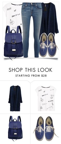 """""""School Style"""" by madeinmalaysia on Polyvore featuring MANGO, Vans and rag & bone/JEAN"""
