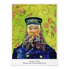 SOLD! - #Portrait #Postman Joseph #Roulin Vincent van #Gogh #Poster #Print #Paris #France #art #PostImpressionism #decoration