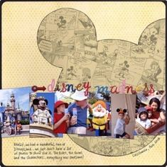 Disney scrapbook ideas - Bing Images by RayofSunshine