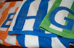 Monogrammed beach towels would make great graduation gifts!