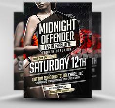 Midnight Offender Flyer Template #PSD #Photoshop #Flyer #Template #FlyerHeroes