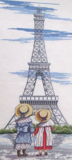 Eiffel tower - Faye Whittaker Arts, All Our Yesterdays Cross Stitch and Original Art Wesbsite