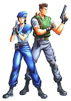 """Resident Evil Jill and Chris   Diálogos """"clássicos"""" retirados do primeiro jogo:"""