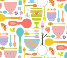 Ice Cream Paraphernalia fabric by kayajoy on Spoonflower - custom fabric great for fitted sheets and bumpers!