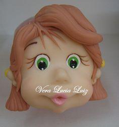 POTE MENININHA by BRILHABISCUIT-VeraLuciaLuiz, porcelana fria polymer clay pasta francesa masa flexible fimo modelling modelado figurine cake topper