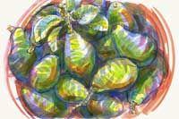 Red basin [Avocado Season] Fruits And Veggies, Vegetables, Artichoke, Basin, Avocado, Red, Fruits And Vegetables, Artichokes, Lawyer