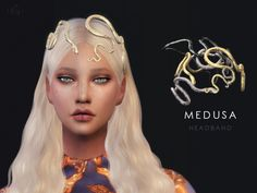 The Sims Resource: Snake headband - Medusa by Starlord • Sims 4 Downloads