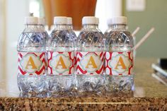 Party prints-water bottle wraps-made using Storybook Creator 4.0 software by Creative Memories. :)