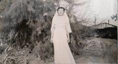 Vintage Photo..The Country Bride..1930's Original Photo, Old Photo Snapshot, Vernacular Found, Artistic Altered Art, Wedding Photos by iloveyoumorephotos on Etsy