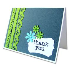Thank you card.....quick and easy to make.