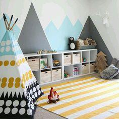 Des silhouettes de montagne pour décorer la chambre d'enfant