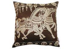 Horse 18x18 Pillow, Brown on OneKingsLane.com