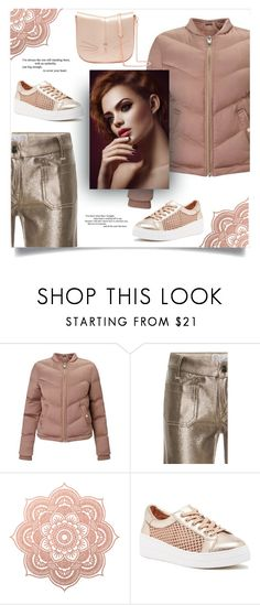 """""""Rose Gold Puffer"""" by gracecar3 ❤ liked on Polyvore featuring Miss Selfridge, The Seafarer, Steven by Steve Madden and Ted Baker"""