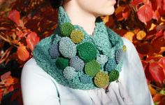 The Vivian Girls Cowl #2 in greens  http://www.etsy.com/listing/85494783/celestial-greens-wool-crocheted-cowl