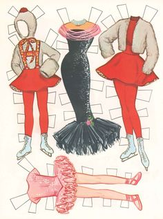 1964 Barbie and Skipper Paper Doll clothes