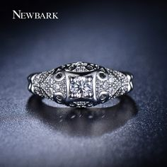 Find More Rings Information about NEWBARK Brand Vintage Women Rings AAA CZ…