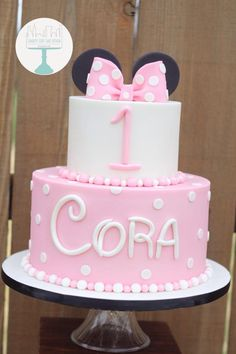 Minnie Mouse Birthday Cake | Charity Fent Cake Design | Fun Unique Birthday Cake | Springfield, Missouri