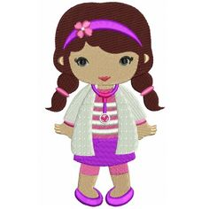 Looks Like Doc McStuffins Filled Girl Doctor Machine Embroidery Design Digitized Pattern
