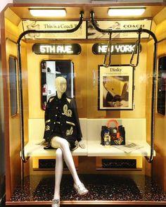 "Coach ""Subway"" window display, London"