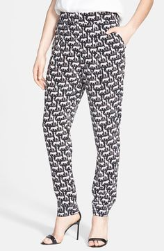 Diane von Furstenberg 'Atlas' Print Silk Pants available at #Nordstrom