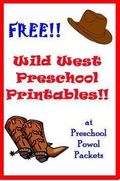 Free Wild West Printable Pack Wild West Activities Wild