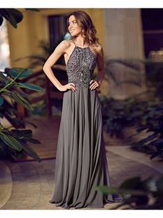 Sexy Party Dresses Party Gowns,Long Evening Dresses,Chiffon Evening Dresses,Pink,Blue Evening Dress