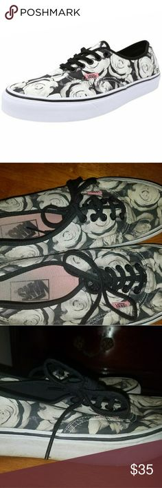 Rose vans shoes Only worn a few times no rips or tears the inside is faded some but that happens with every shoe. Vans Shoes Sneakers