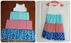 """Rozeta handmade: Z cyklu: """"Szyciowe inspiracje"""": Sukienki dla małych dziewczynek:-)"""