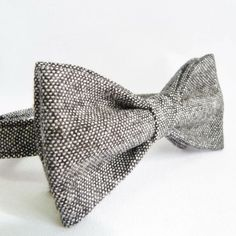 birdseye tweed bow tie by moaning minnie | notonthehighstreet.com
