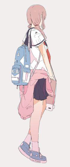 Chica Anime Manga, Art Anime, Anime Art Girl, Manga Girl, Kawaii Anime, Anime Girls, Beautiful Drawings, Cute Drawings, Beautiful Anime Art