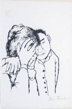 The Consoler (Lucky Dragon) by Ben Shahn presented by George Krevsky Gallery Art For Change, Ben Shahn, Social Realism, Jewish Art, American Artists, Art Drawings, Street Art, Illustration Art, Sketches