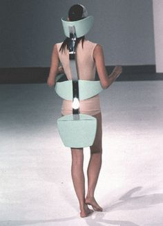 Hussein Chalayan SS 1999 Is this the lastest in medical wear - a backbrace?