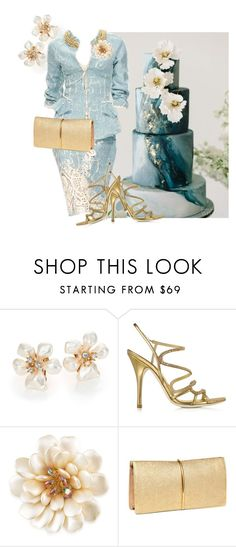 """""""Marble Cake"""" by buckdoeand2angels ❤ liked on Polyvore featuring Kenneth Jay Lane, Ermanno Scervino, Loriblu, Carolee and Nina Ricci"""