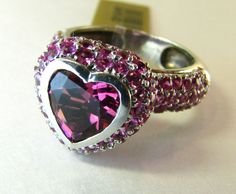 Beautiful Heart Shaped 14k Tourmaline Pink Sapphire Ring