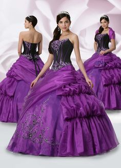 black and purple dress   ... Open Back Black And Purple Qd1065 Embroidery Tippet Quinceanera Dress