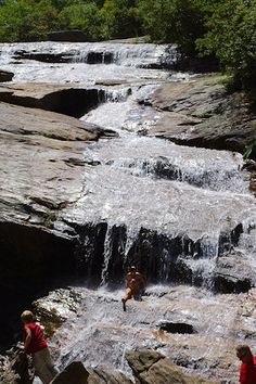 Graveyard Fields Waterfall, North Carolina;  located off the Blue Ridge Parkway south of Asheville