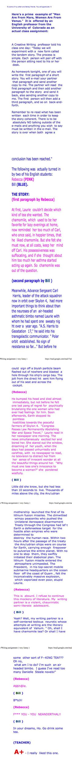 The guy's version has so much more imagination...love this story :-)
