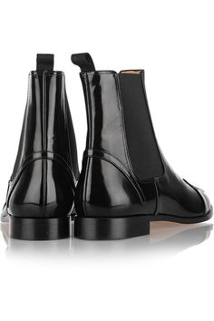 Charlotte Olympia - Chelsea Cats Leather Ankle Boots - Black - IT36.5