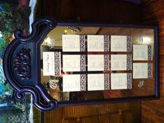 Do it yourself seating plan by bride and groom.