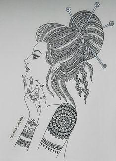 new :) by Tatyanka-Gunchak on DeviantArt Doodle Art Drawing, Zentangle Drawings, Mandala Drawing, Cool Art Drawings, Zentangles, Doodling Art, Mandala Art Lesson, Mandala Artwork, Mandala Painting