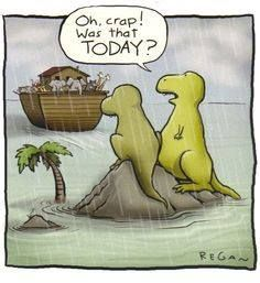 So that's what happened to dinosaurs,,,Ha ha. Although this does remind me of Disney's Fantasia.