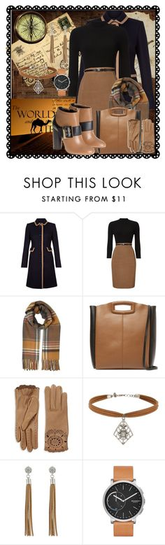 """""""Camel Coat Black Navy and Tan"""" by staciastyle22 ❤ liked on Polyvore featuring Hobbs, Phase Eight, Miss Selfridge, Maje, Burberry, GUESS, Skagen and Lanvin"""