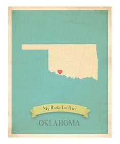 Oklahoma wall art -- needs to move the heart