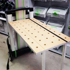 Festool Tools, Festool Systainer, Tool Workbench, Portable Workbench, Workbench Ideas, Van Storage, Tool Storage, Carpentry Tools, Woodworking Jigs