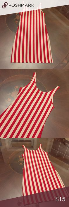 New Haoduoyi Red & White Striped Bodycon Dress This red and white striped dress was inspired by Charli XCX's dress in her SuperLove music video and comes in a small. Not up for trade, it's brand new and has never been worn even once. Dresses Mini