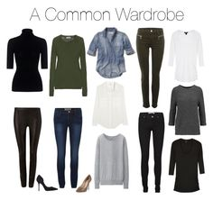 """""""A Common Wardrobe"""" by charlotte-mcfarlane ❤ liked on Polyvore featuring Theory, Hollister Co., Iris & Ink, J Brand, Jil Sander, Uniqlo, Kurt Geiger, J by Jasper Conran and Alice + Olivia"""