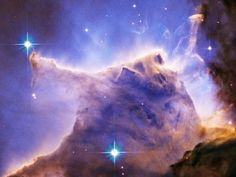 Hubble Space Telescope Picture of Eagle Nebula M16 Pillar Detail Portion of Top
