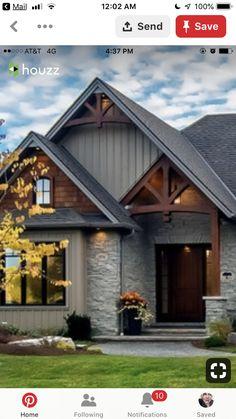 57 Old Farmhouse Exterior Design Ideas 2019 > Fieltro.Net old farmhouse exterior design ideas 2019 49 Related Exterior Paint Colors For House, Paint Colors For Home, Paint Colours, Gray Exterior Houses, Cottage Exterior Colors, Craftsman Exterior, Home Exterior Design, Home Exteriors, Cabin Paint Colors